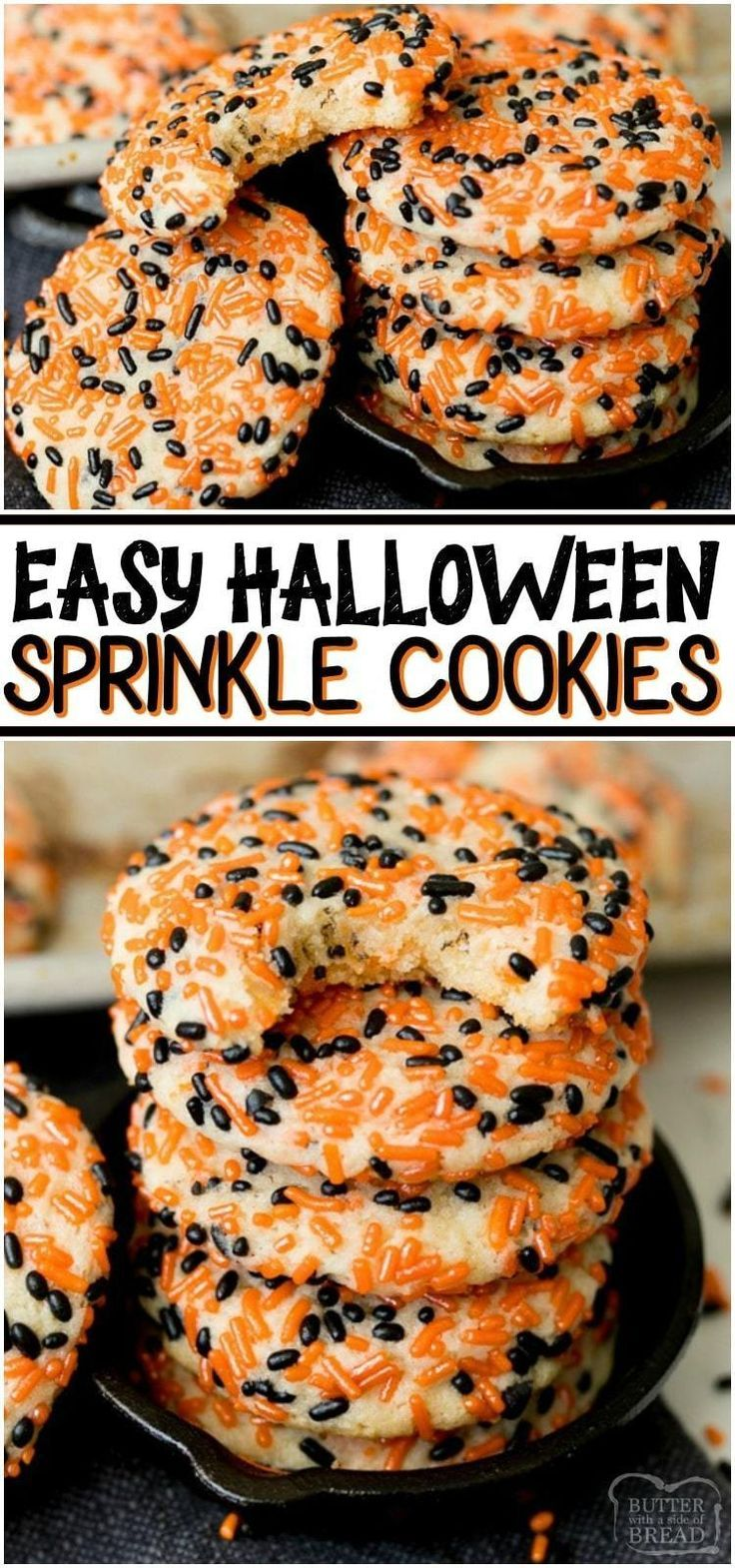 HALLOWEEN SPRINKLE COOKIES - Butter with a Side of Bread