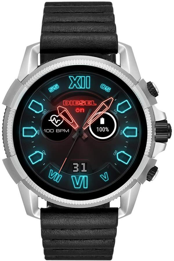 Diesel Men Full Guard 2 5 Black Silicone Strap Touchscreen Smart Watch 48mm Mit Bildern Armbanduhr Herren Smartwatch Diesel