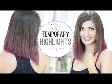 Temporary Highlights With Crepe Paper Hair Dye Tutorial Temporary Hair Dye Diy Hair Dye