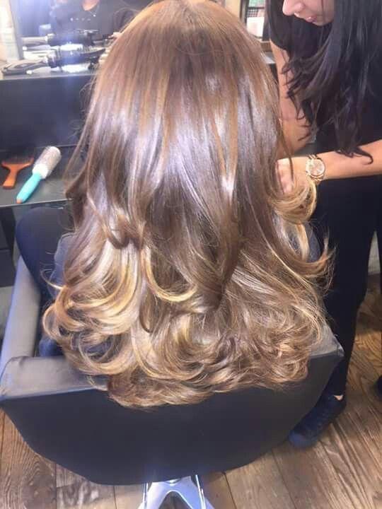 Big Bouncy Blow Dry Blowout Hair Blow Dry Hair Curls Bouncy Hair
