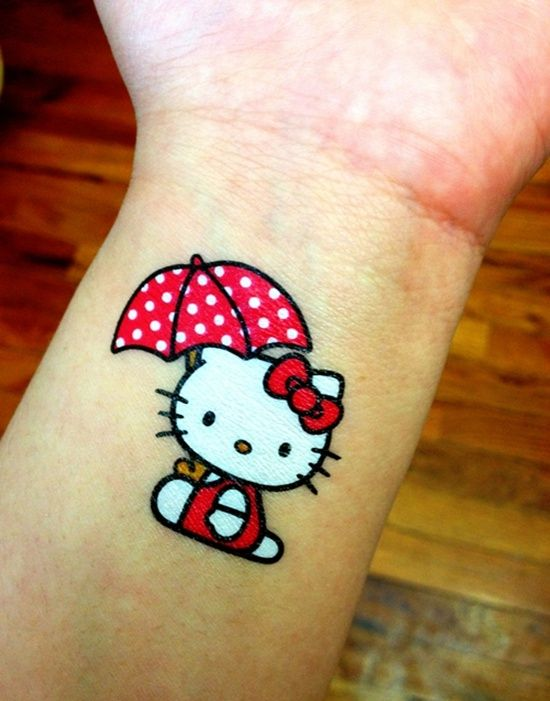 Pin By Mary Henderson On Hello Kitty Tattoos In 2020 Hello Kitty Tattoos Umbrella Tattoo Hello Kitty