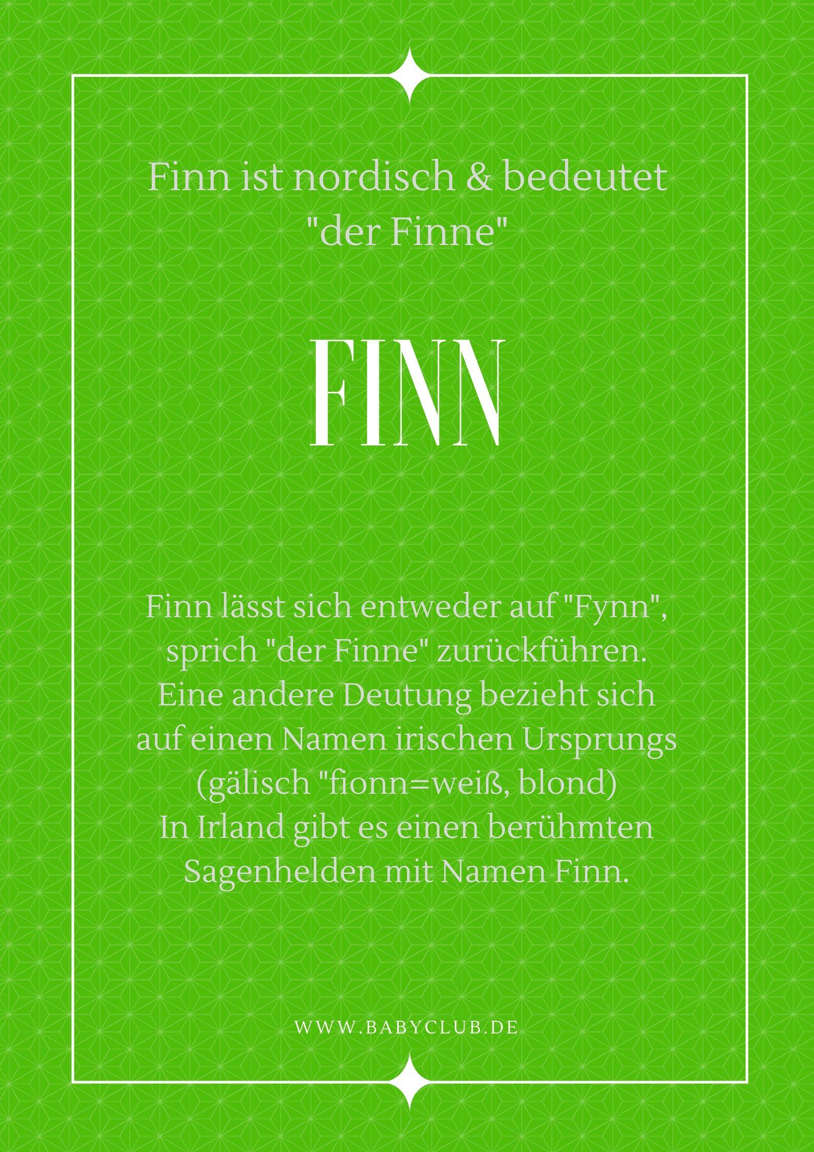 Vorname Finn