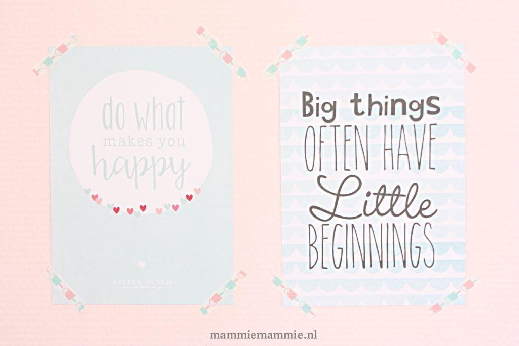 Poster Babykamer Pastel : Posters voor kinderkamer pastel mammiemammie meisjes