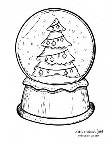 Christmas Tree Snow Globe Coloring Page Tips