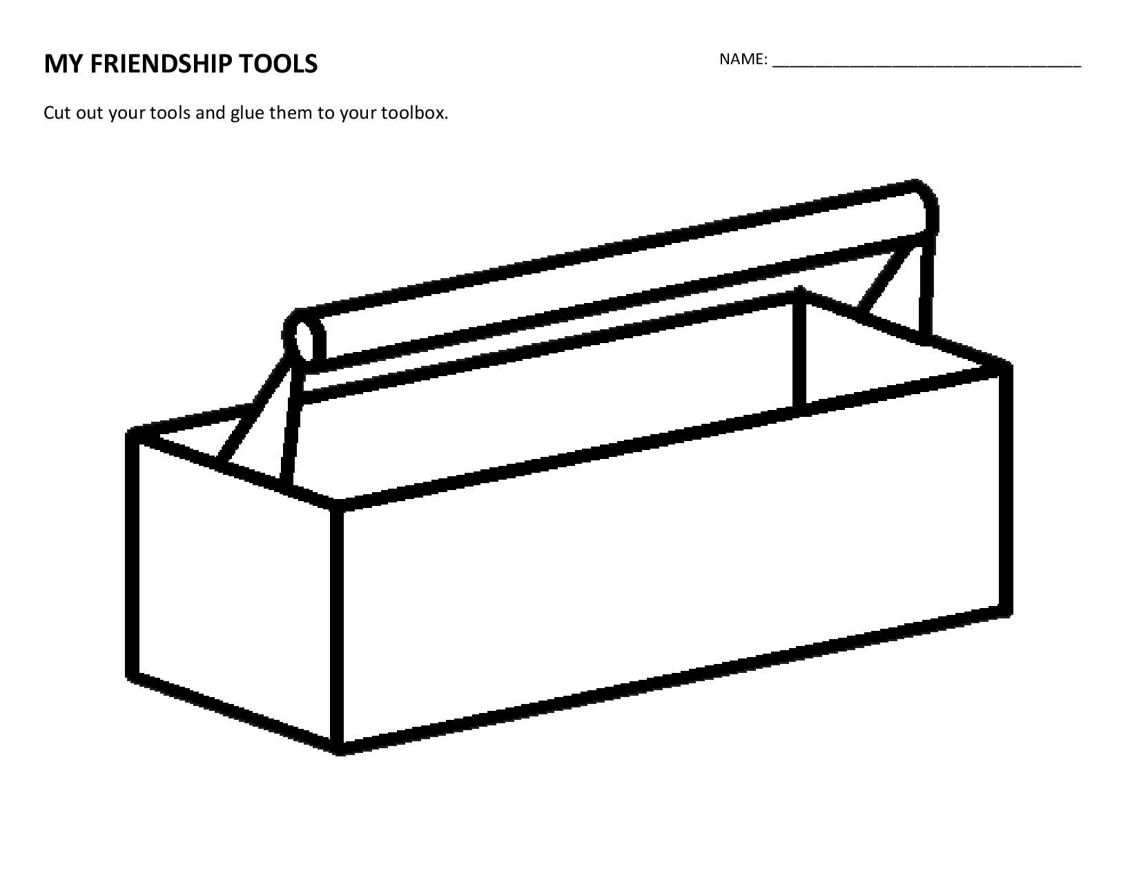 Created by a Project Cornerstone volunteer, a Friendship Toolbox