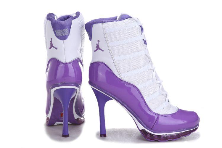 Purple nike high heels air jordan..
