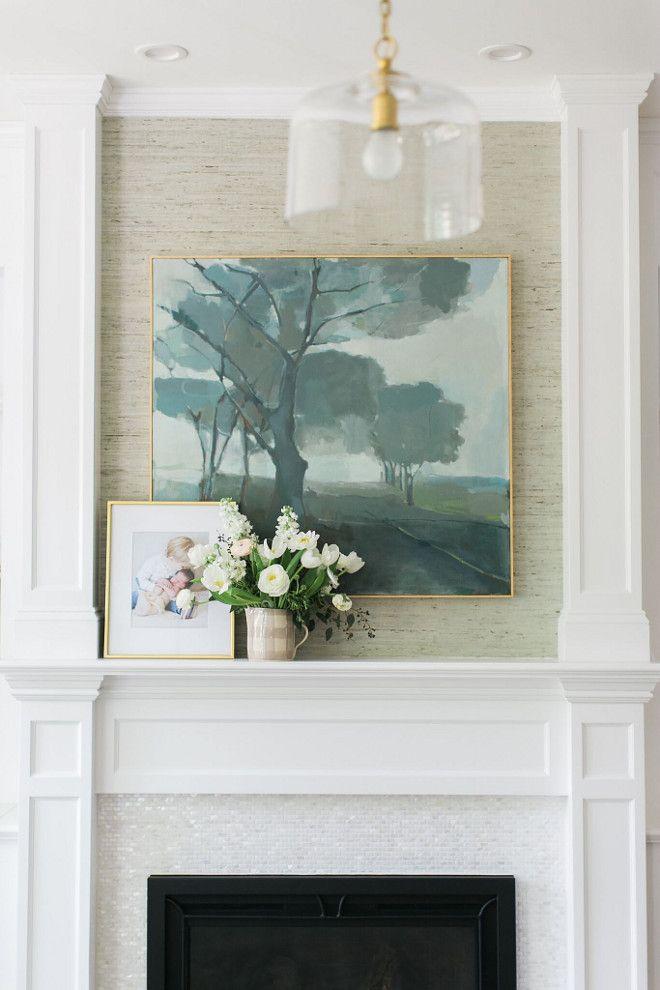 Grasscloth Wallpaper Above Fireplace Grasscloth Wallpaper Above