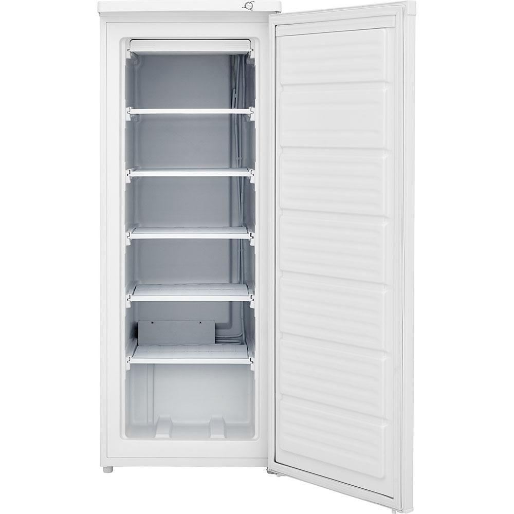 Frigidaire 5 8 Cu Ft Upright Freezer In White Fffu06m1tw The Home Depot Upright Freezer Tall Cabinet Storage Frigidaire