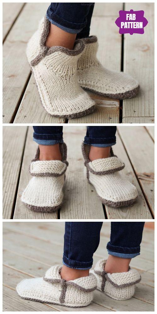 Photo of Stricken Sie Kids Modern Mocs Slippers Knitting Patterns – Knitting 2019 trend | ml