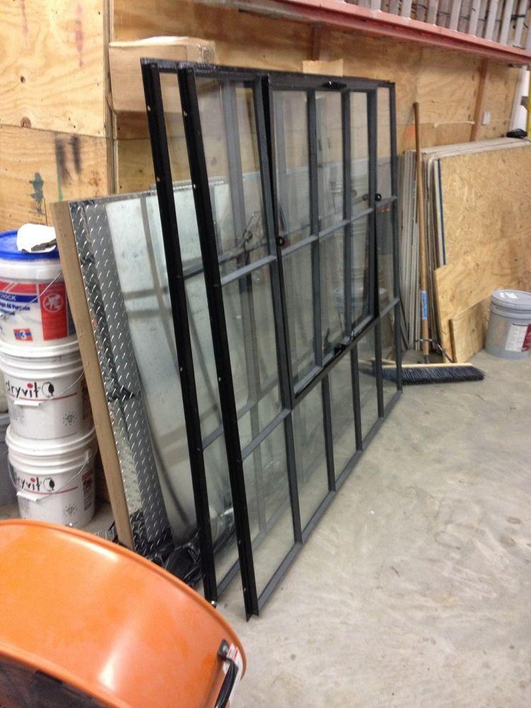 Vintage black industrial Steel-frame factory window refurbished and ...
