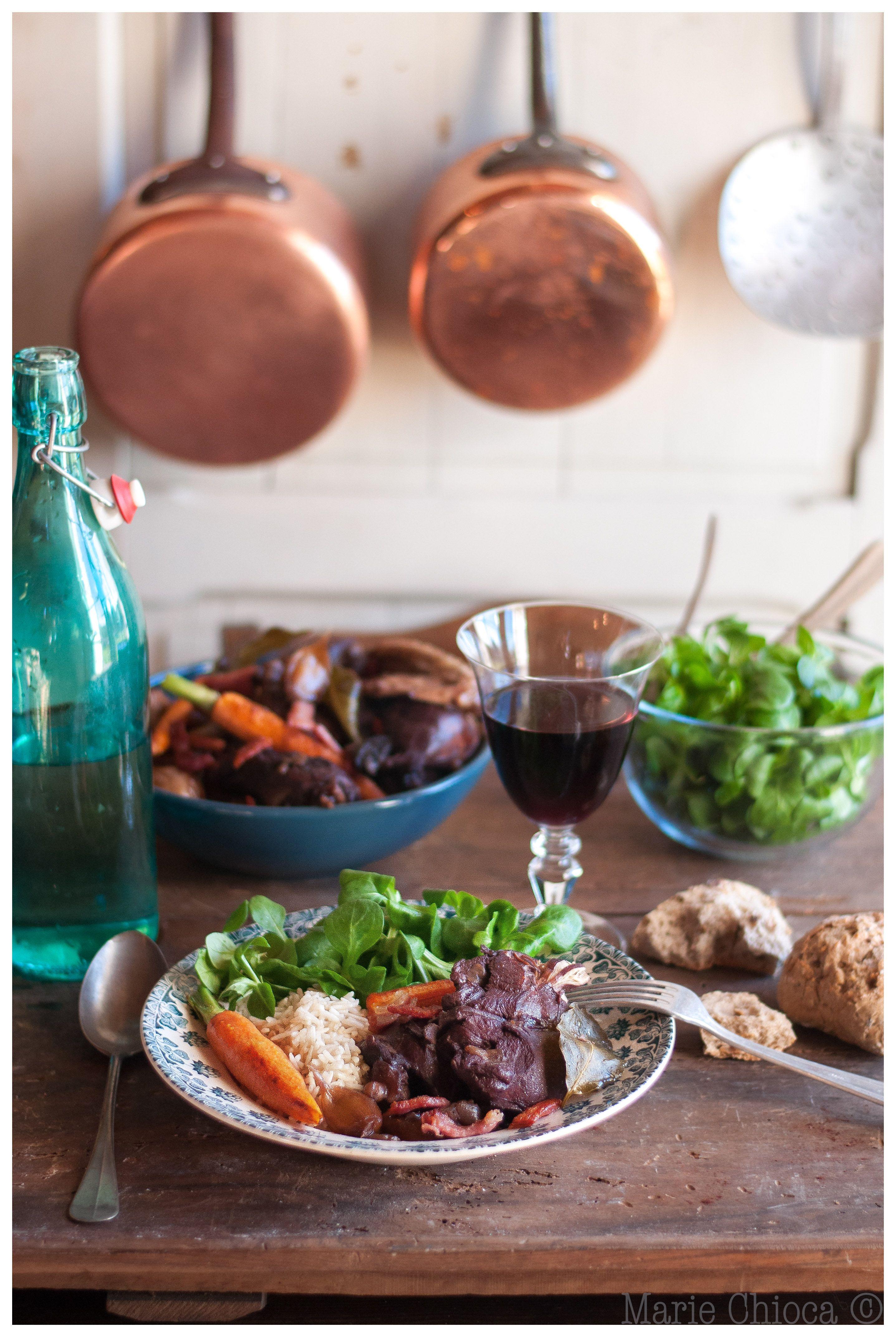 Coq au vin Saines Gourmandises
