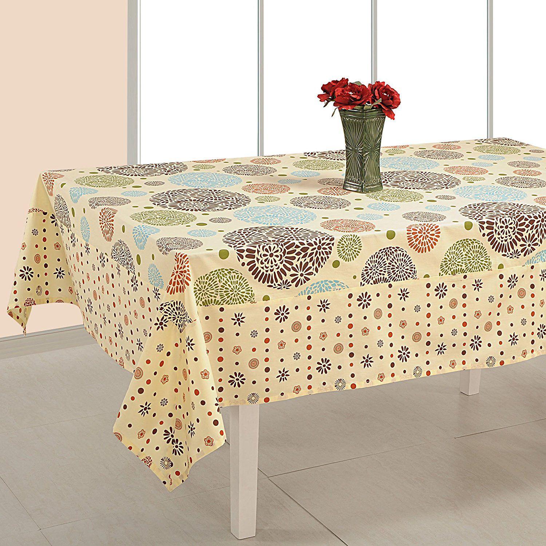Indian Home Decor Rectangular Floral Print Cotton Tablecloth 60 X