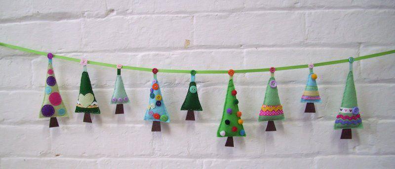 paper and string new kit christmas tree garland - Felt Christmas Garland