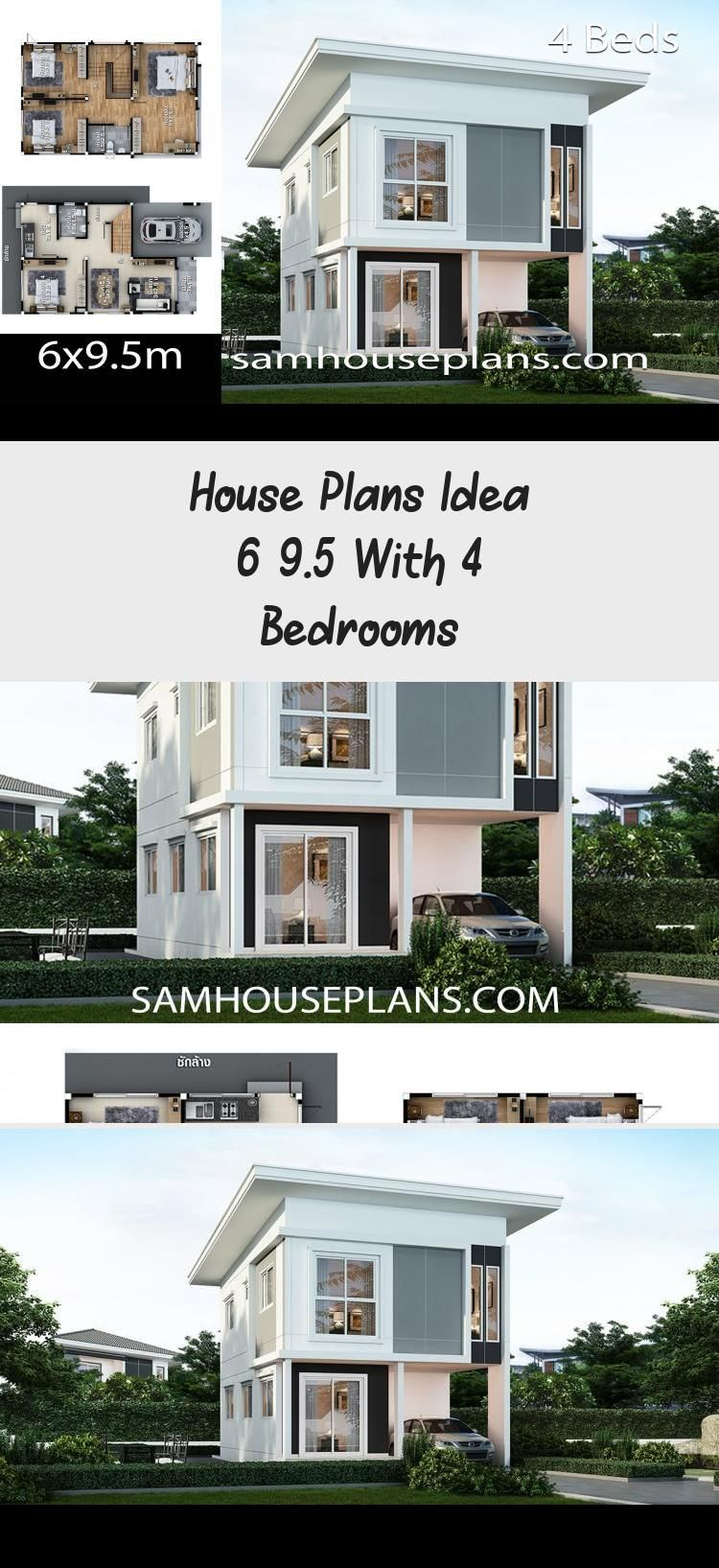 House Plans Idea 6x9 5 With 4 Bedrooms Sam House Plans Narrowhouseplans Tinyhouseplans Houseplansonestor In 2020 Unique House Plans House Plans Narrow House Plans