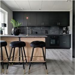 Photo of Naika Metall Barhocker, Samt Polsterung, Grau 77cm Cult Furniture
