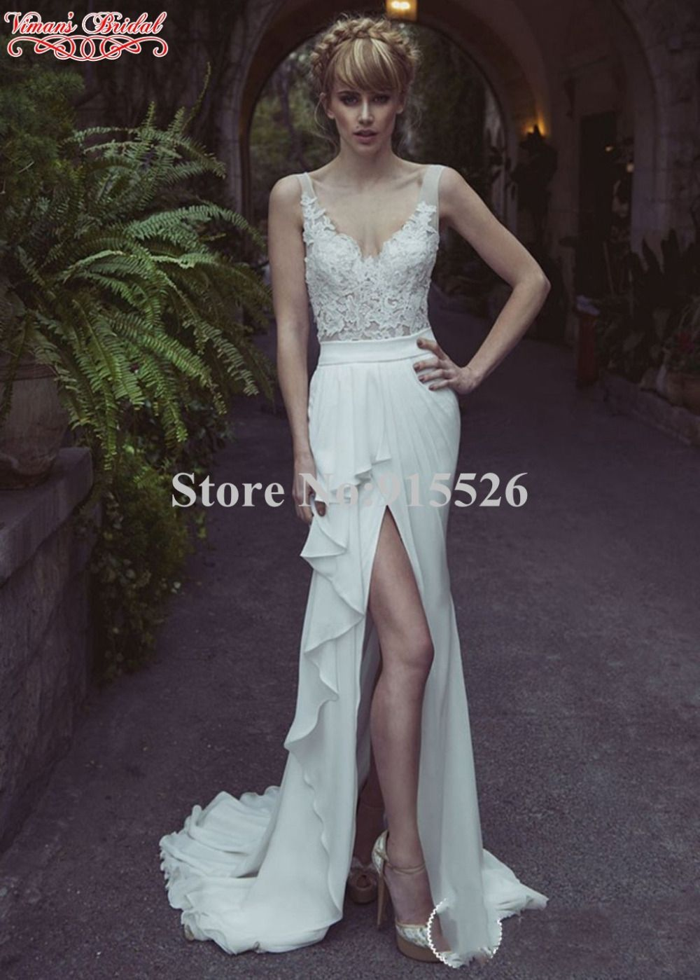 Click to Buy << 2015 Viman\'s Bridal Sexy Beach Wedding Dresses ...