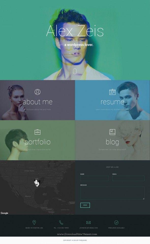 uCard - Animated vCard Template #blog, #creative, #css3 ...