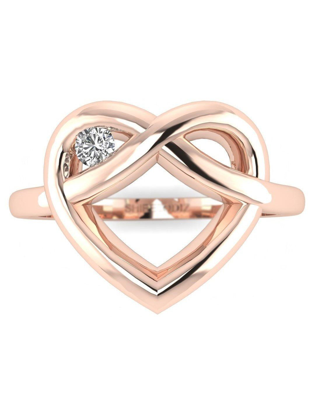 a7622145ea Rose Gold Real Diamond Ring - Winking Heart | Products | Diamond ...