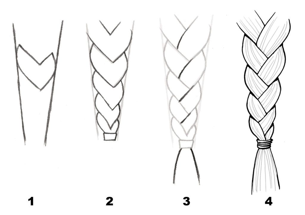 Braids How To Draw Braids How To Draw Anime Hair Manga Hair