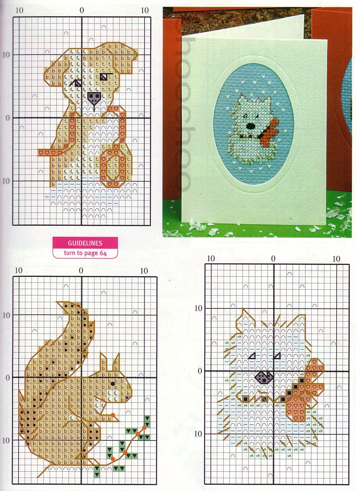 схема для вышивания открытки