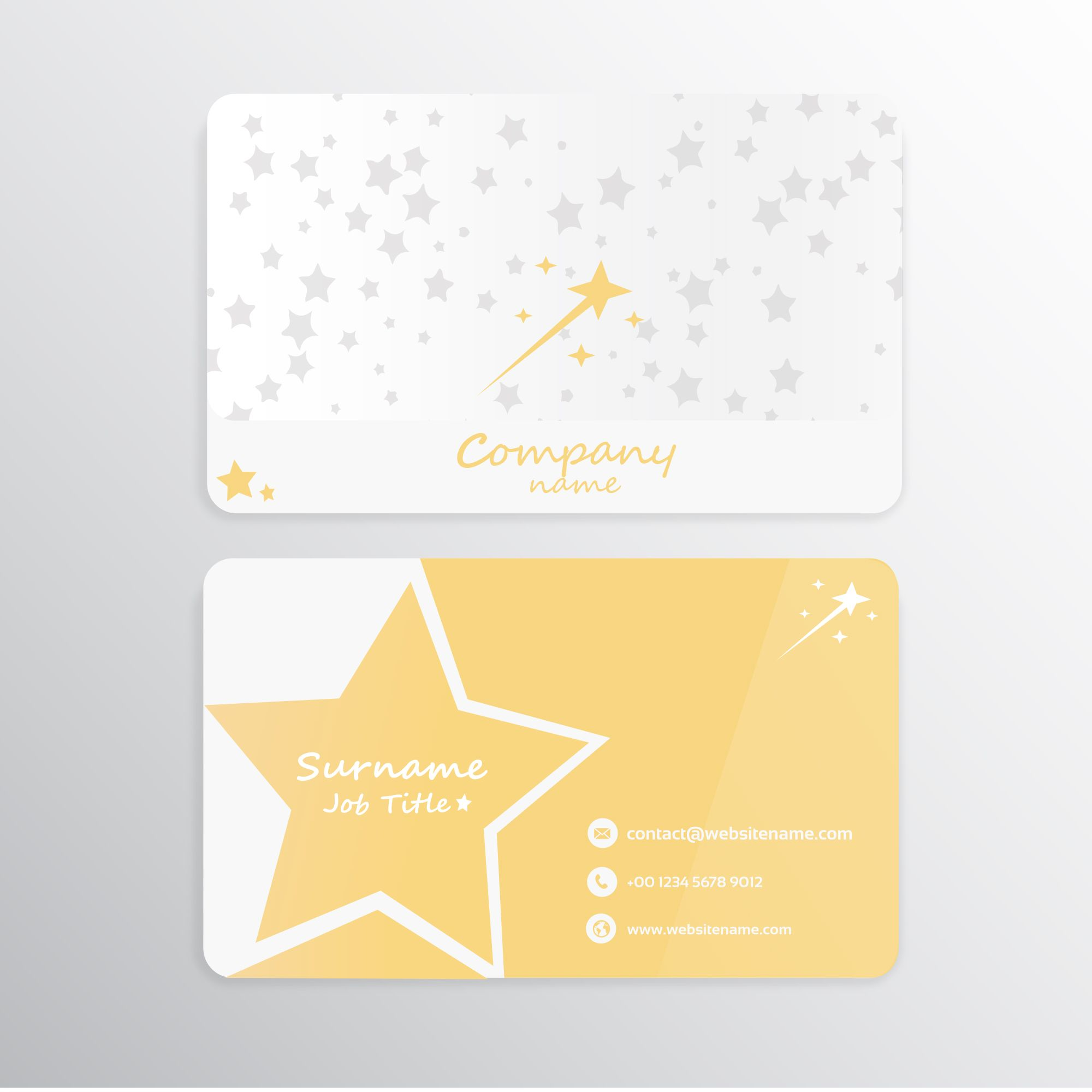 Stars Business Card Business Card Design Personal Business