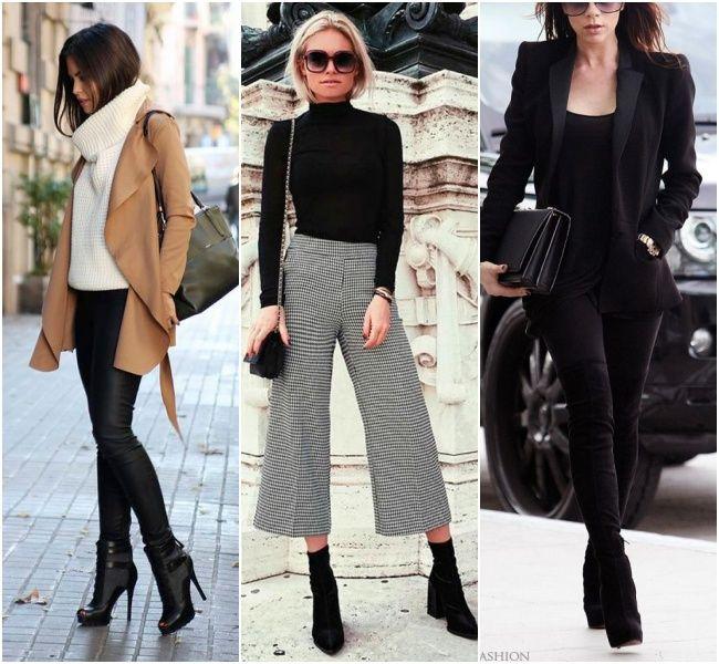 3855f284f Look de trabalho com botas: a bota pode ser diferentona, pode usar uma  pantacourt ou um total black com blazer bem acinturado.