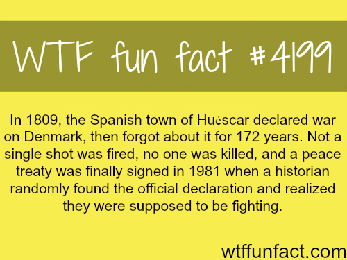 spanish town of huescar declared war on denmark #historyfacts