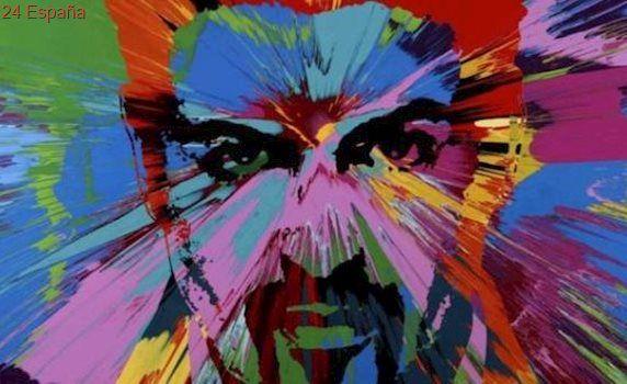 Un retrato de George Michael obra de Damien Hirst, subastado por medio millón de euros