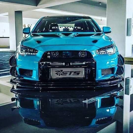 Mitsubishi Evo X Blue: Blue Evolution #evo #evolution #mitsubishi #mitsuboshievo