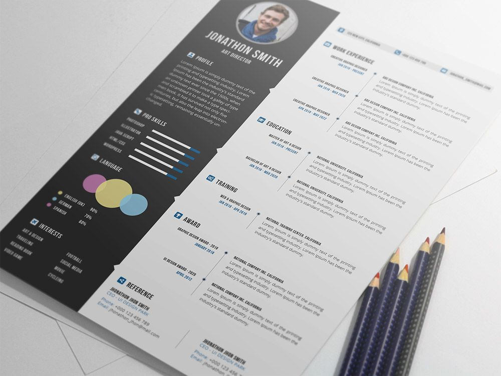Download Free Resume Template For Word%0A Free Professional Resume Template with Cover Letter