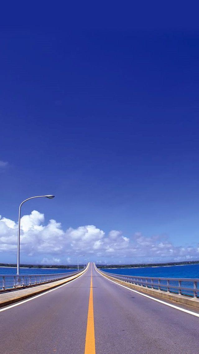 Blue Skies And Road Blue Sky Wallpaper Road Iphone 5s Wallpaper Beautiful road hd wallpaper