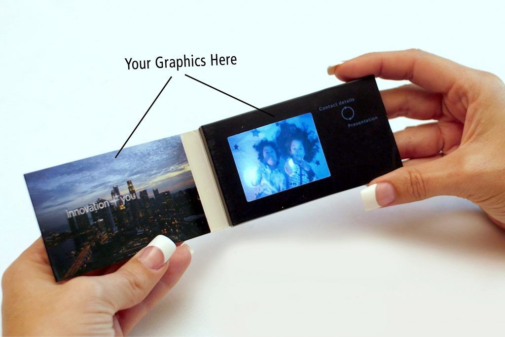 Video Business Cards 2 4 Screen Full Wrap Custom Printed 256mb Fl Solutions Shop Business Video Business Cards Video