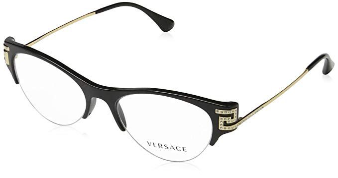 85e8678c0cef Versace VE3226B Eyeglass Frames GB1-51 - 51mm Lens Diameter Black  VE3226B-GB1-