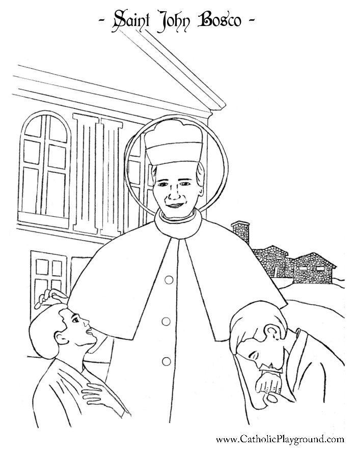 Saint John Bosco Coloring Page Catholic Playground Saint