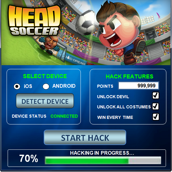 Download Head Soccer Hack Tool Cheats Engine Free No
