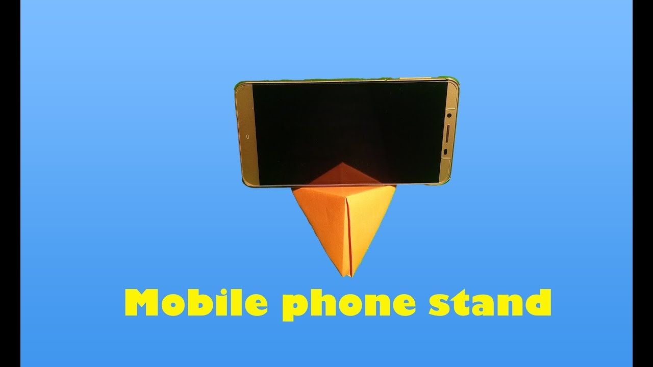 origami mobile phone stand how to make origami mobile