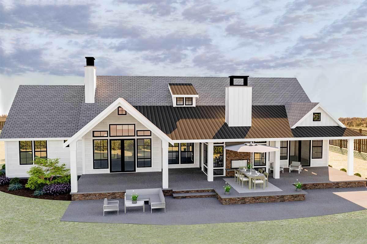 3-Bed Modern Farmhouse Plan with Bonus Room