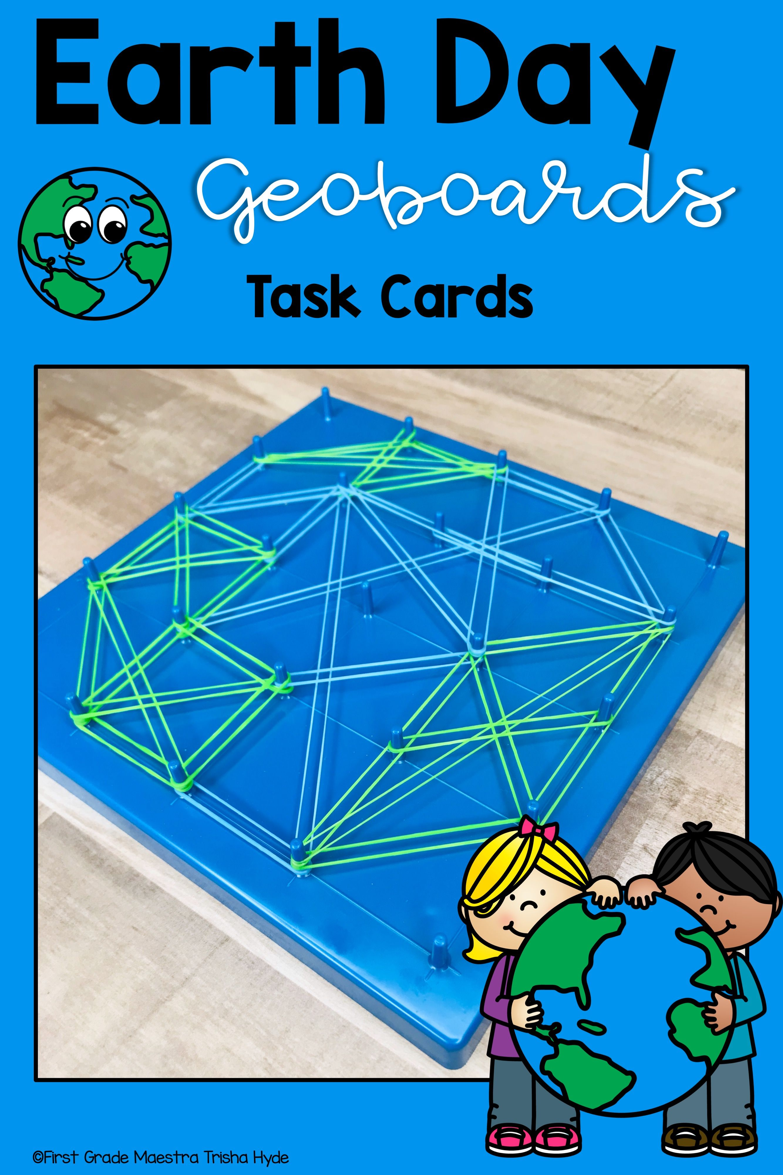 Earth Day Geoboard Task Cards
