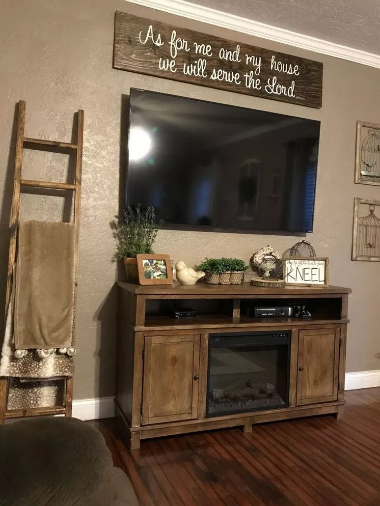 45 great farmhouse home decor ideas to get a past on incredible tv wall design ideas for living room decor layouts of tv models id=93170