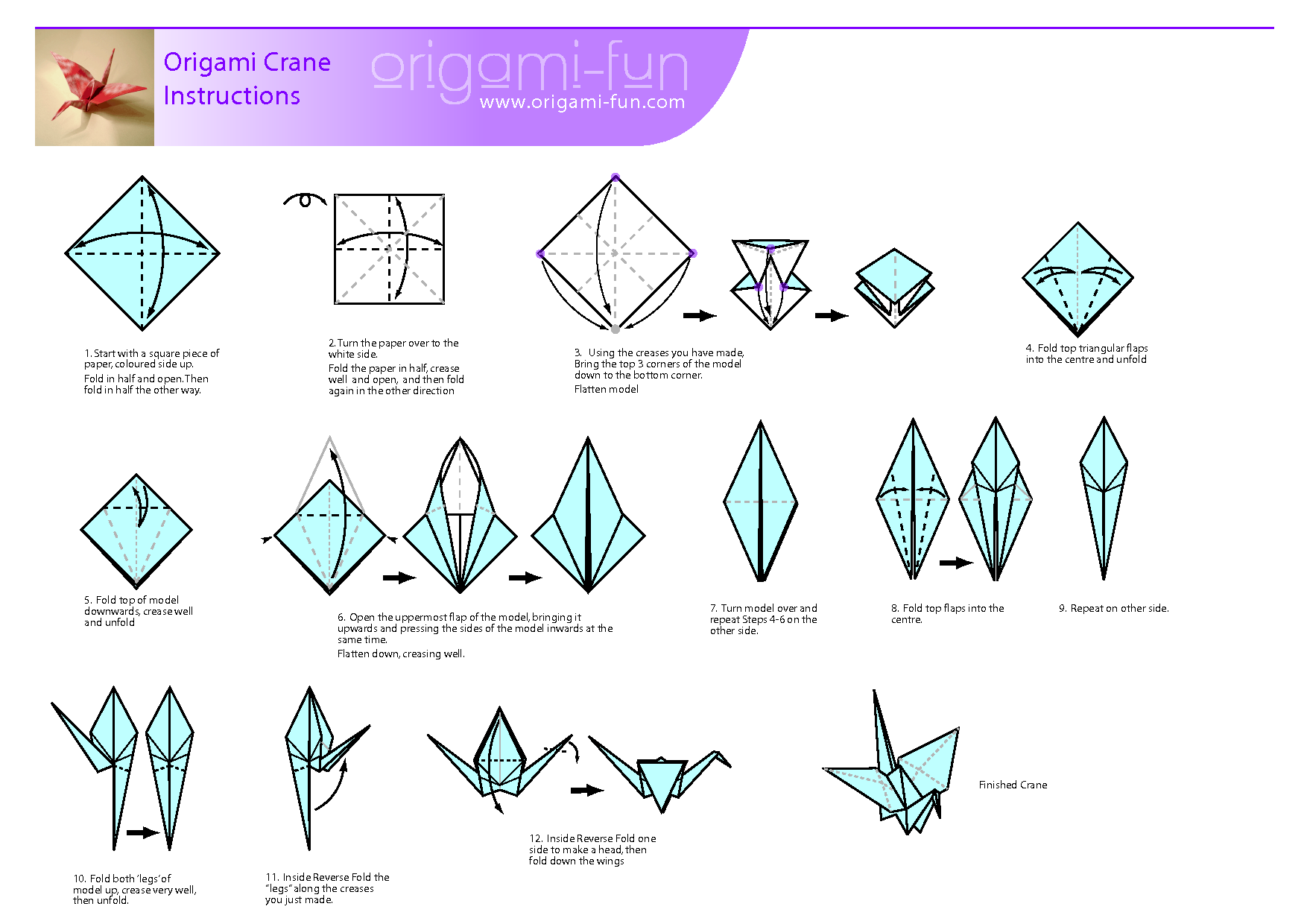 origami crane instructions pljcs children 39 s department