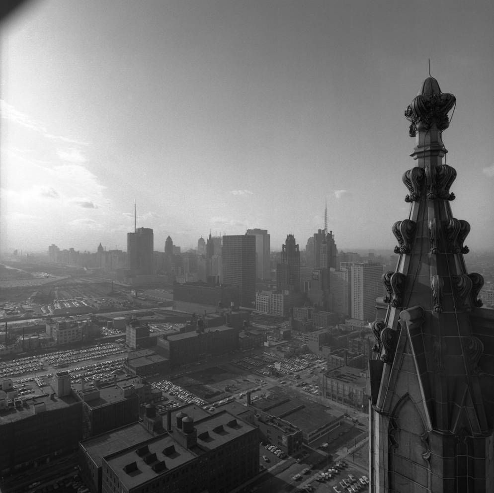 View Looking SW From The American Furniture Mart Building Towards The  Chicago River, Tribune Tower