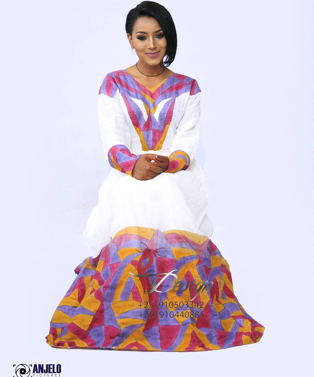 konjo habesha kemis from yegna design Ethiopian Traditional