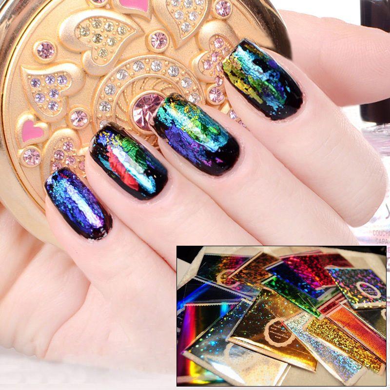 Galaxy Nail Art Transfer Foil Nail Sticker Tip Acrylic DIY ...