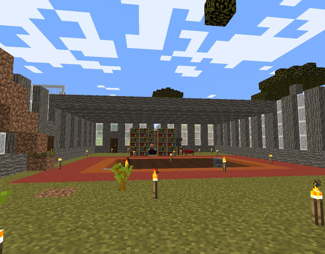 Building an acacia wood house #minecraft | Minecraft