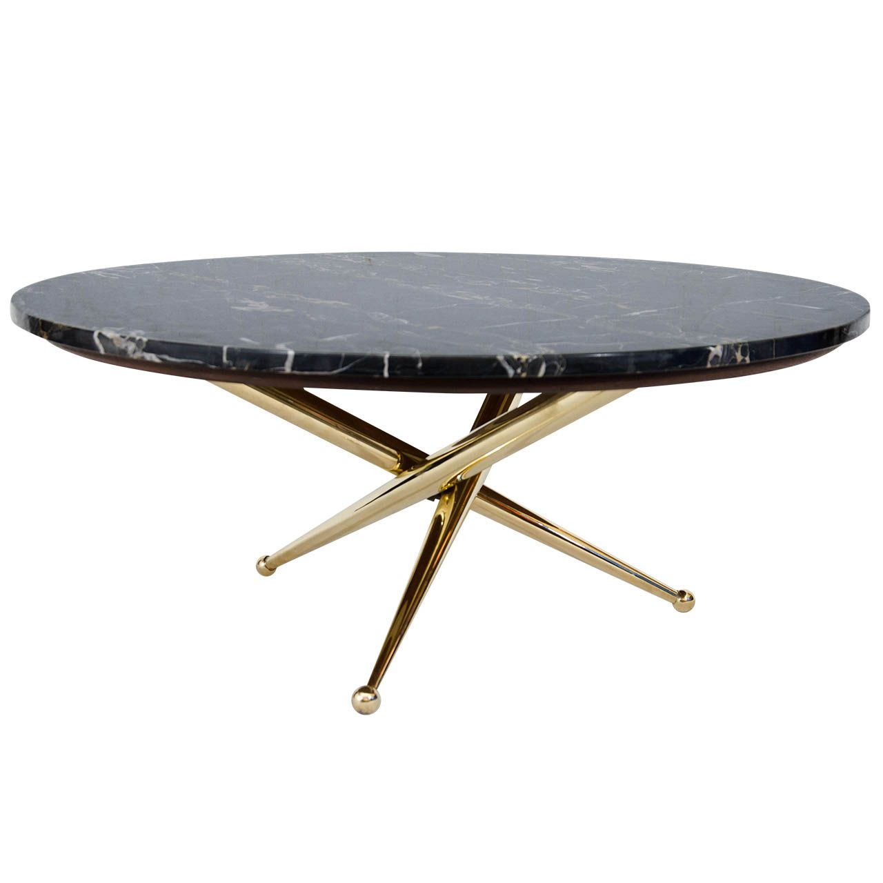 Couchtisch Marmor Oval Italian Marble And Brass Coffee Table Wohnzimmer