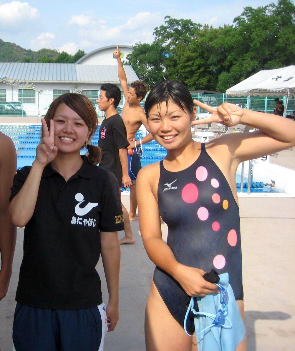 女子高生競泳水着