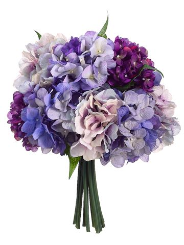 Silk Bouquets In Purple And Lavender Silk Wedding Flowers Lavender Wedding Flowers Hydrangeas Wedding Purple Hydrangea Bouquet
