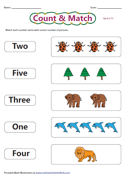 Number names count and match number names worksheets pinterest number names count and match ibookread PDF