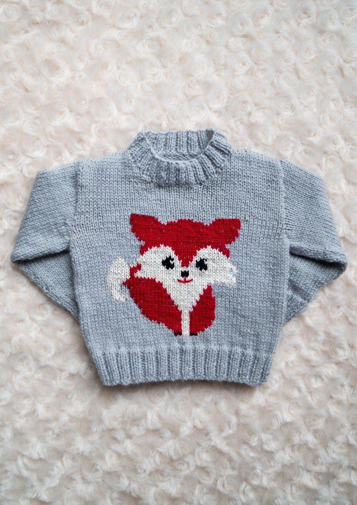 Intarsia Fox Chart Childrens Sweater