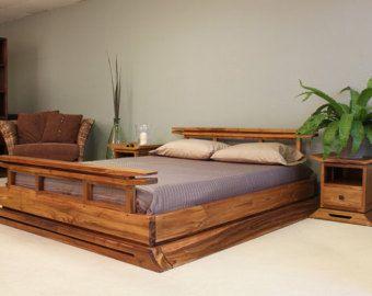 Kondo Asian Platform Bed Japanese Platform Bed Asian Platform Beds Wood Platform Bed
